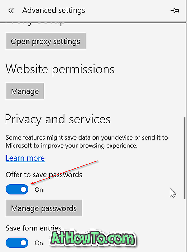 Come rendere Microsoft Edge salvare le password in Windows 10