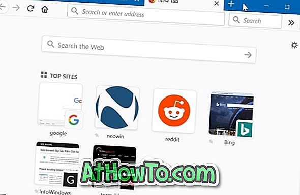 Deaktivieren der Farbe in Firefox 57 Registerkarten und Registerkartenleiste