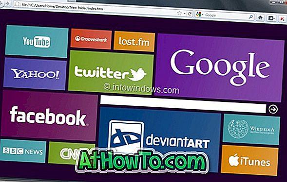 कैसे करें मोज़िला फ़ायरफ़ॉक्स होम पेज विंडोज 8 स्टार्ट स्क्रीन की तरह