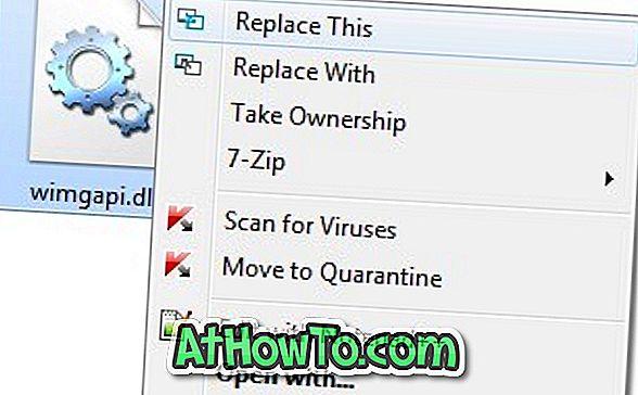 Klicken Sie mit der rechten Maustaste auf ReplaceThis: Ersetzen Sie Dateien in Windows 7 durch einen Klick