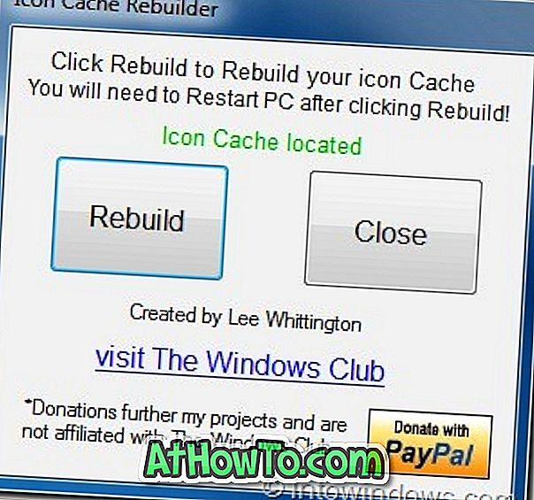Icon Cache Rebuilder: Outra ferramenta para reconstruir o cache de ícones do Windows 7