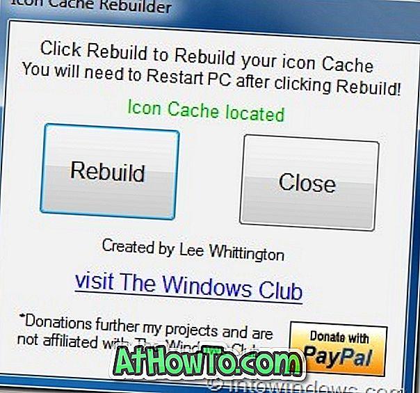 Icon Cache Rebuilder: Ein weiteres Tool zum Neuaufbau des Windows 7 Icon Cache