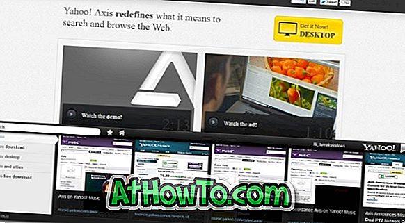 Yahoo! herunterladen  Axis-Erweiterung für Desktop-Browser