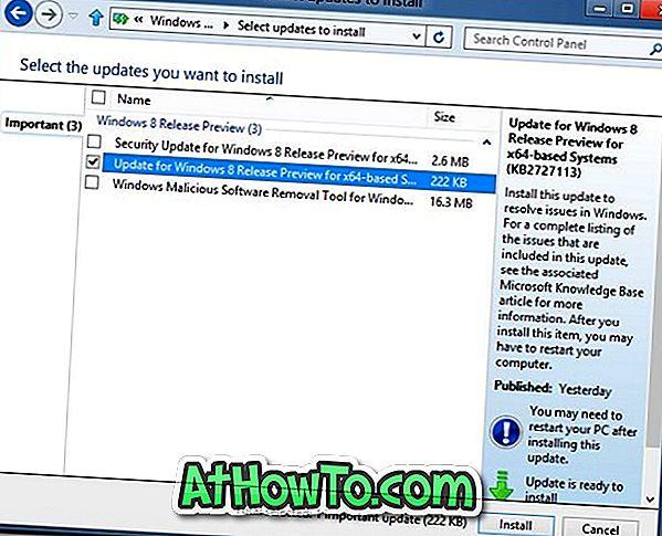 Laadige kiirparandus aadressile Windows 8 rippuvad probleemid