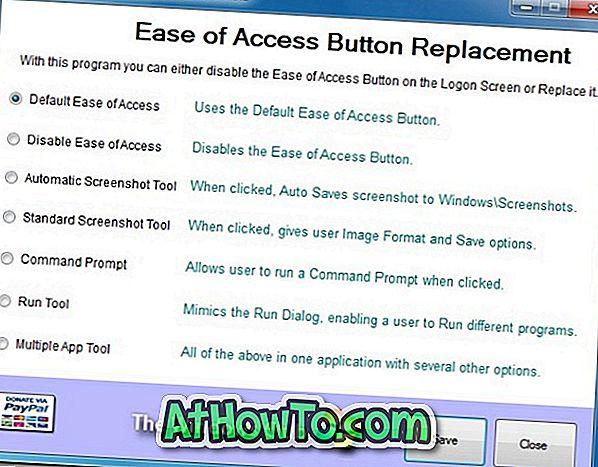 विंडोज 7 लॉगऑन स्क्रीन पर एक्सेस बटन की आसानी को अन्य उपयोगी विकल्पों के साथ बदलें