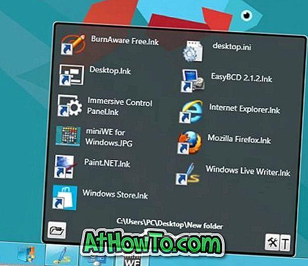 miniWE Lader dig nemt åbne programmer og filer fra proceslinjen