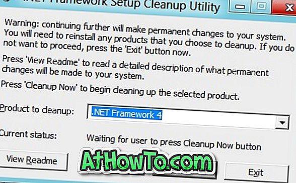 Mit dem .NET Framework-Setup-Cleanup-Dienstprogramm können Sie .NET Framework vollständig aus Windows entfernen