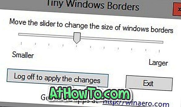 Cambia la dimensione del bordo della finestra in Windows 8 con i bordi delle finestre molto piccoli