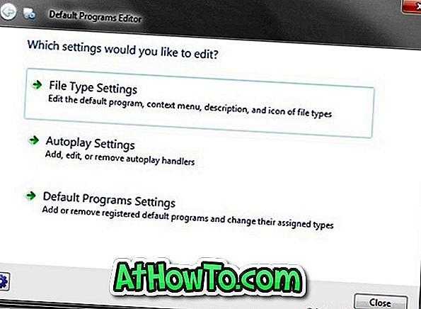 Dateityp, Autoplay & Standardprogrammeinstellungen bearbeiten mit Standardprogrammeditor