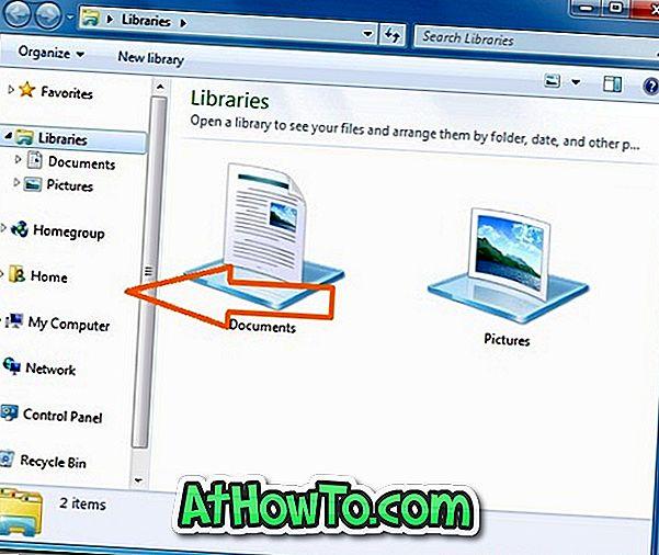 Kaip lengvai pridėti / pašalinti elementus iš naršyklės naršyklės Windows 7