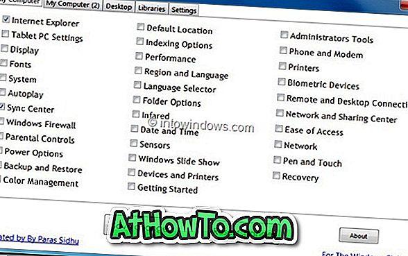 Systemordner-Anpassungsprogramm für Windows 7