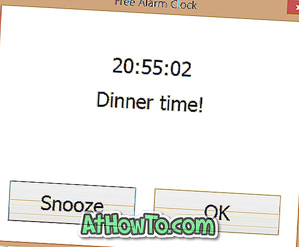Darmowy budzik na pulpicie systemu Windows