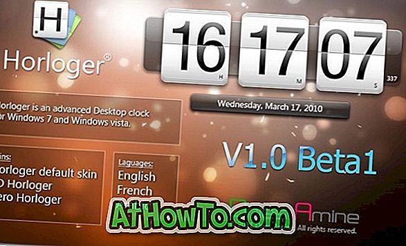 Horlonger:VistaとWindows 7デスクトップ用のもう1つの豪華な時計
