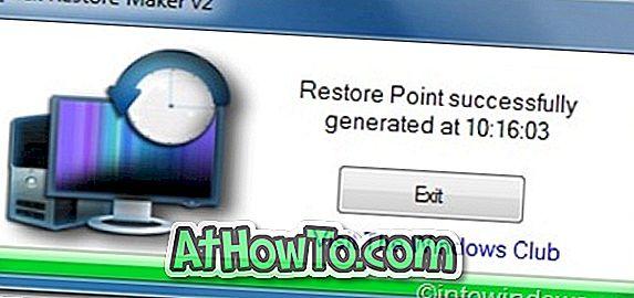 Tạo nhanh điểm khôi phục trong Windows 7 bằng Quick Restore Maker