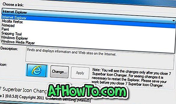W7 Superbar-Symbolwechsler: Ersetzen Sie Windows 7-Taskleistensymbole