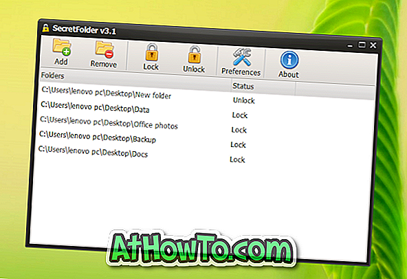SecretFolder: Free Folder Locker til Windows