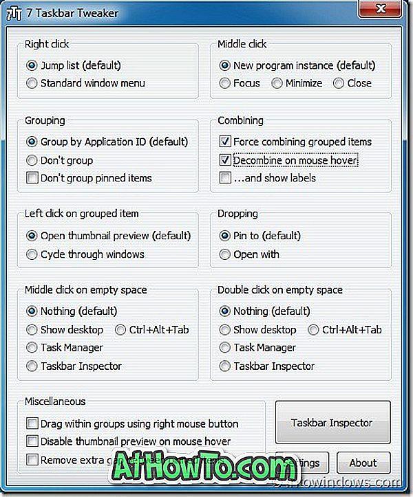 7 Taskbar Tweaker 2.0 rilasciato con nuovi tweaks