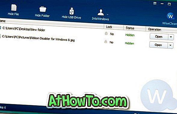 Wise Folder Hider Free: Skjul filer, mapper og USB-indhold