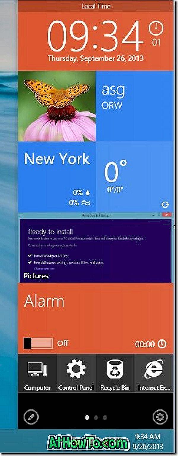 MetroSidebar: Beautiful Tiled Sidebar per Windows 7 / 8.1