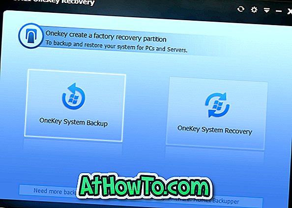 Download AOMEI OneKey Recovery Free til at genoprette Windows Recovery Partition