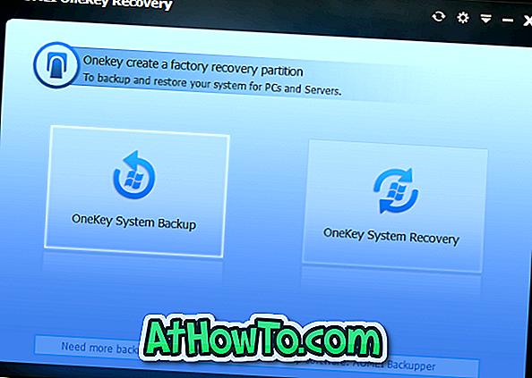 AOMEI OneKey Recovery letöltése a Windows helyreállítási partíció újbóli létrehozásához