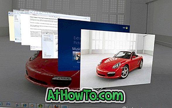 Vista Flip 3D Aktivatör Kullanarak Windows 7 / Vista Flip 3D'yi Fare İle Kontrol Edin
