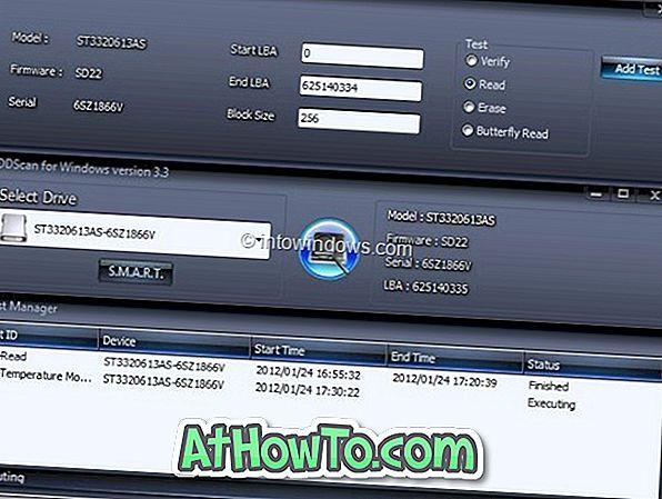 HDDScan: strumento di diagnostica HDD gratuito per Windows