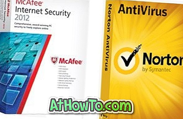 Download 180-dages gratis prøveeksemplarer af McAfee Internet Security 2012 og Norton AntiVirus 2012