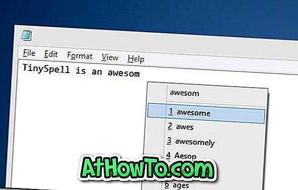 tinySpell fügt dem Editor, WordPad und allen Windows-Programmen die Rechtschreibprüfung hinzu