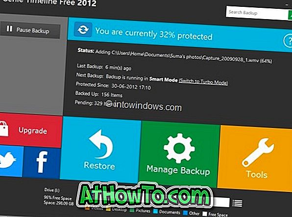 Genie Timeline 2012 Free: Kostenlose Sicherungssoftware mit Metro-Benutzeroberfläche
