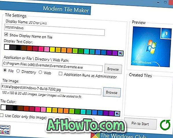 Създайте нови плочки на стартовия екран с модерен производител на плочки
