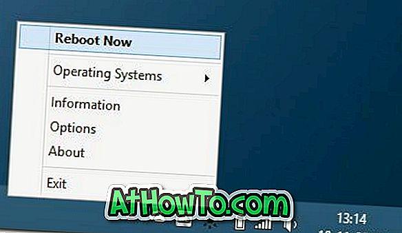 Reboot To: Redémarrez rapidement de Windows 8.1 dans Windows 7