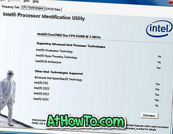 Intel Utilitar de identificare a procesorului vă ajută să vă cunoașteți procesorul Intel