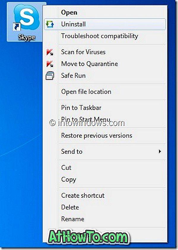 Додај Деинсталирај опцију у Виндовс контекст мени (мени десним кликом) за брзо деинсталирање апликација
