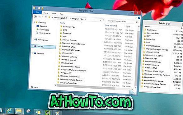Sådan får du vist mappestørrelse i Windows 8.1 Explorer
