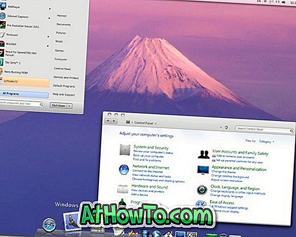 """Mac OS X Lion Transformation Pack"" skirtas ""Windows 7"""