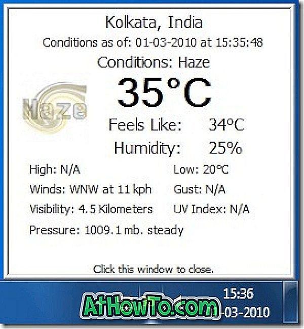 Zobrazte aktuální teplotu počasí