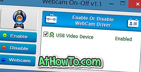 Webcam On-Off: Activer ou désactiver rapidement la webcam sous Windows
