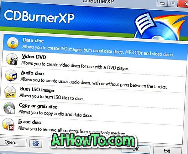 Download CDBurnerXP til Windows 10/8
