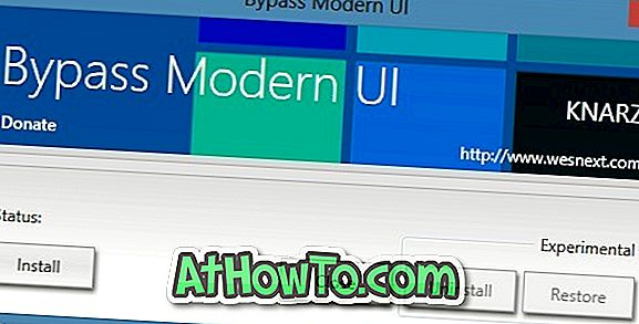 Bypass Modern UI (Metro UI) Tool til Windows 8