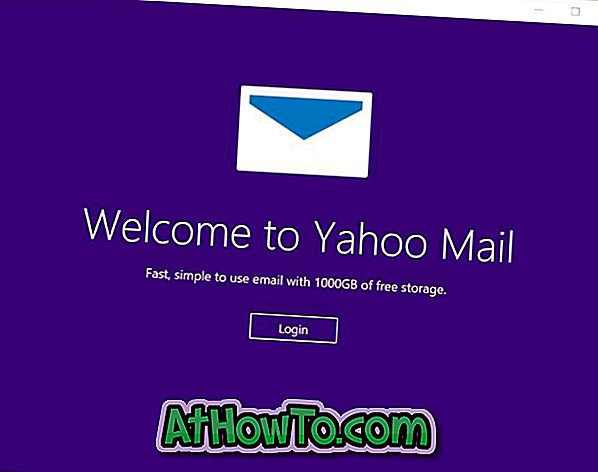Yahoo Mail App für Windows 10/8