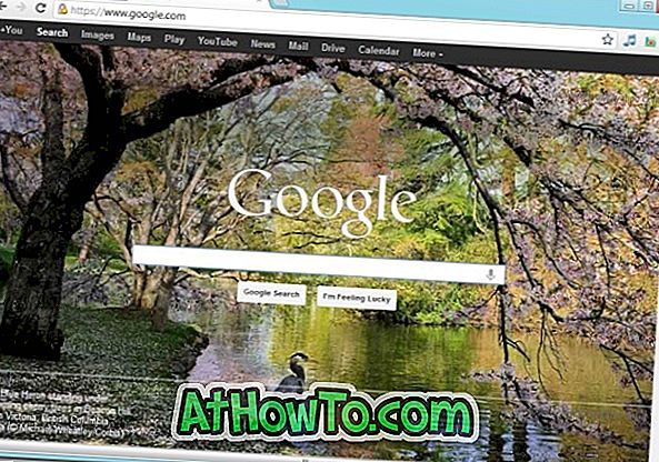 Задаване на Bing началната страница на фона като фонова страница на Google