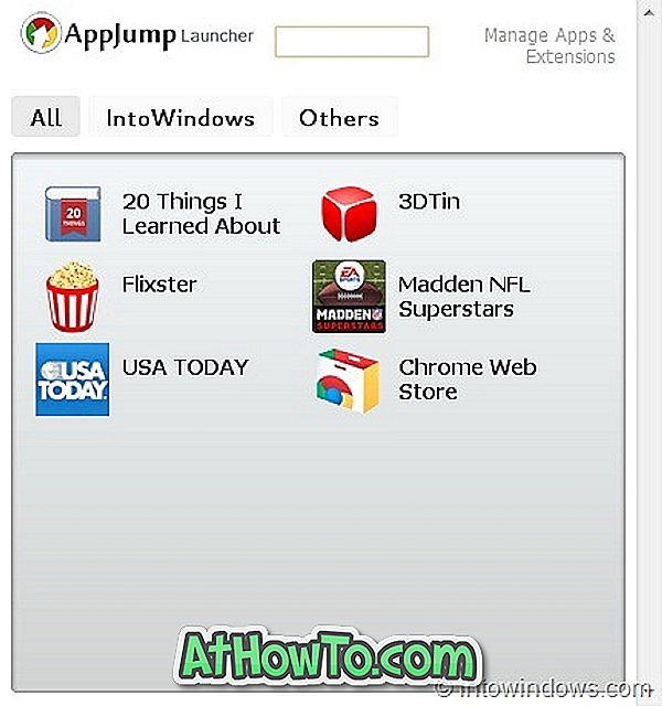 AppJump Launcher: organisez et lancez facilement les applications Web du navigateur Google Chrome