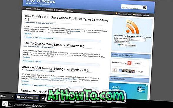 Kaip visada rodyti adreso juostą ir skirtukus Internet Explorer 11
