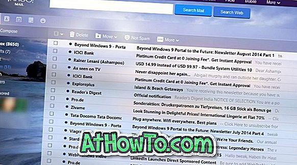 Anpassen von Yahoo!  Mail mit neuen Themen