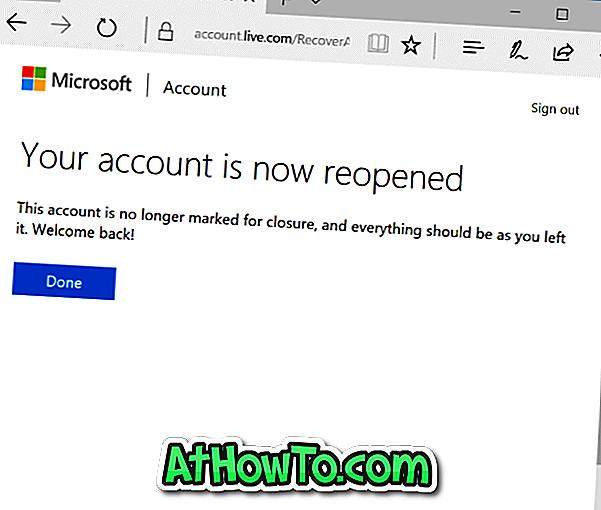 Cum să redeschideți contul Microsoft închis