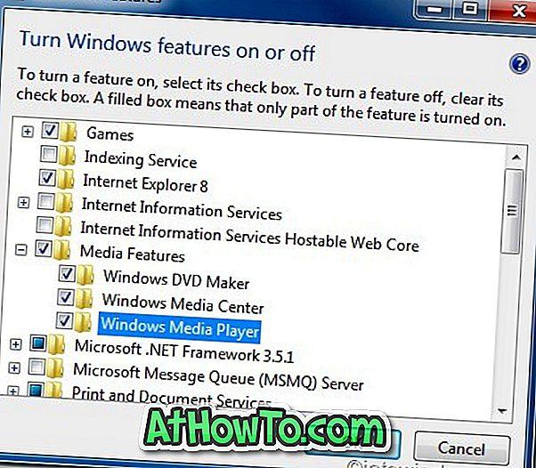 So installieren Sie Windows Media Player unter Windows 10/7 neu