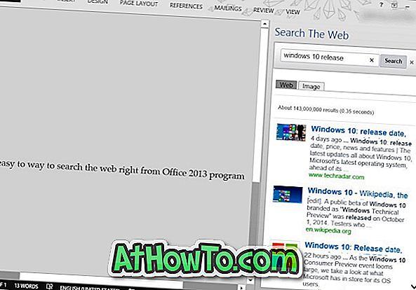 Google zoeken vanuit Office Word of Excel