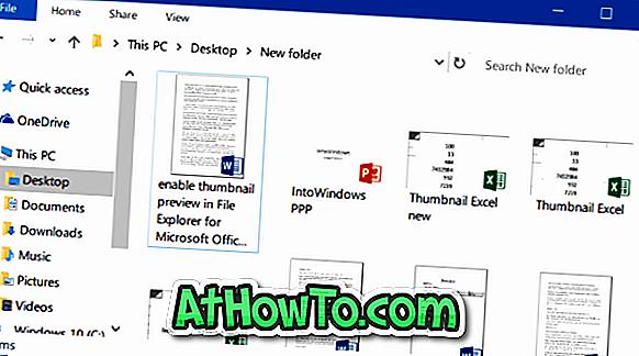 Aktivieren Sie die Miniaturansicht des Datei-Explorers für Word-, Excel- und PowerPoint-Dokumente