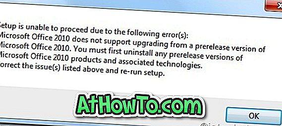 Kā atinstalēt Office 2010 beta versiju